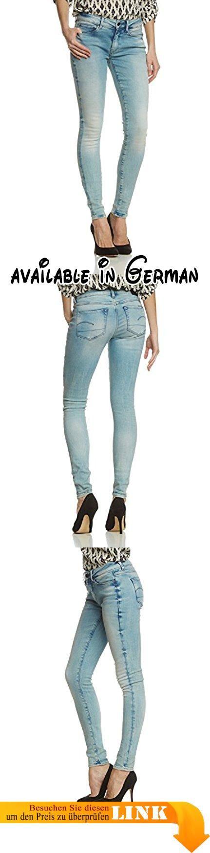 G-STAR Damen Skinny Jeanshose 3301 Contour High Super - alpines superstretch, Gr. W28/L34, Blau (lt aged 424). Die G-Star 3301 ist eine stilneutrale Jeans mit klassischem 5-Pocket-Schnitt. Auf ihre reine Form reduziert, kombiniert diese essentielle Jeans authentische Details mit purem Styling. Die 3301 Contour High Skinny ist aus ausgewaschenem Denim gefertigt, dehnbar und bequem. 'Aged', um den Original-Denim-Farbton aufzuhellen und frische, leuchtende verblichene Stellen