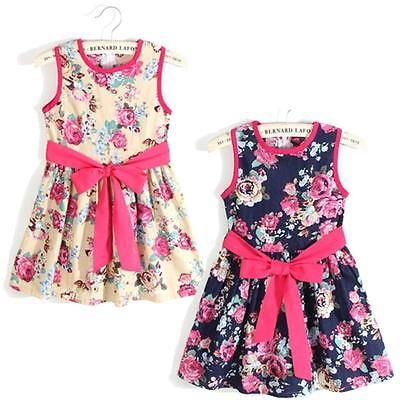 Girls #summer dress #flowers multi coloured fashion kids dress #waist ribbon belt,  View more on the LINK: 	http://www.zeppy.io/product/gb/2/161641897468/