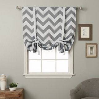 Aurora Home 63-inch Chevron Print Room Darkening Tie-up Window Shade | Overstock.com Shopping - The Best Deals on Curtains
