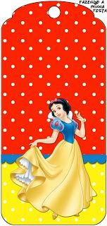 Snow White - Complete Kit with frames for invitations, labels for snacks, souvenirs and pictures! | Making Our Party