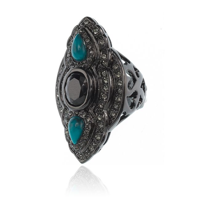 SAMANTHA WILLS - MEET ME THERE RING - TURQUOISE