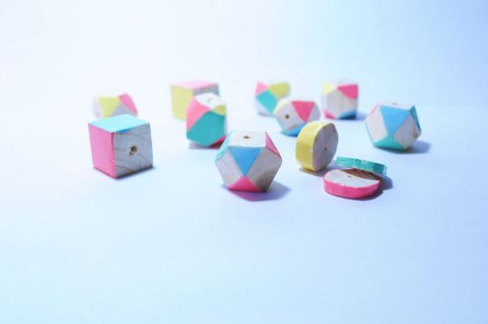 perline in legno di abete #diy #beads #wood #wooden #pastel #colors #perline #handmade