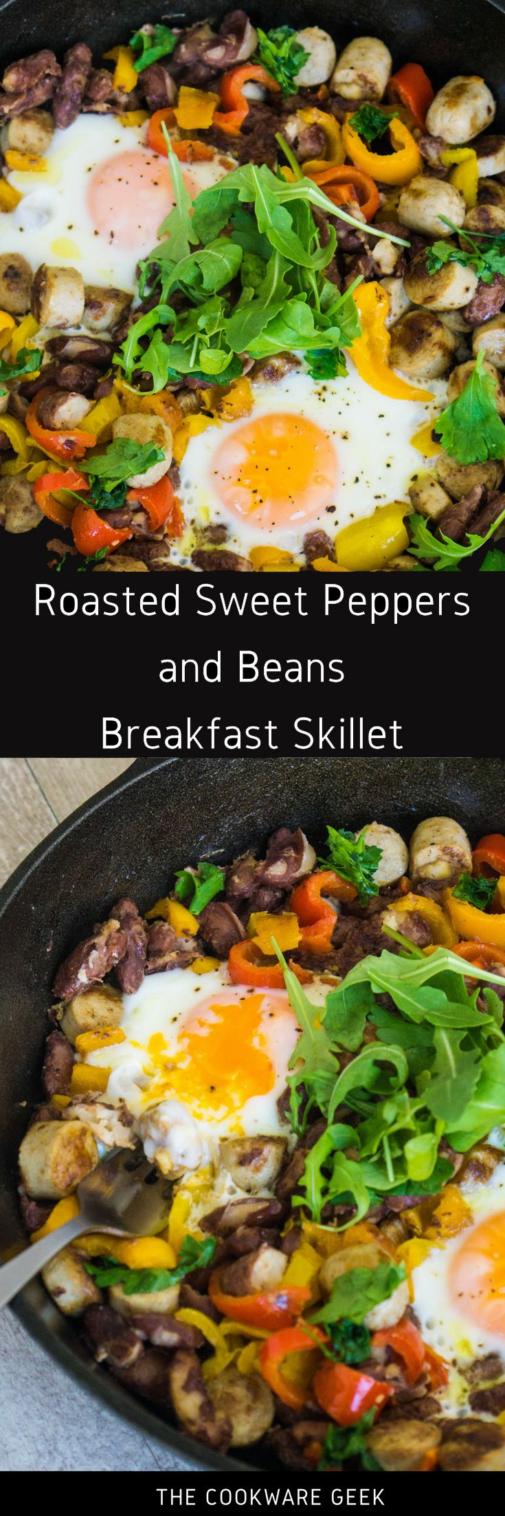 Roasted Sweet Peppers and Beans Breakfast Skillet | The Cookware Geek