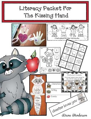 Kissing Hand Activities: Awesome Kissing Hand Literacy Packet chock full of super-fun ways to teach a variety of Common Core standards.  Includes: games, worksheets, crafts, writing prompts, bookmarks, posters, pocket chart cards...