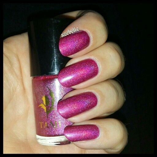 My pink mani; Tami Skibo Sunset.