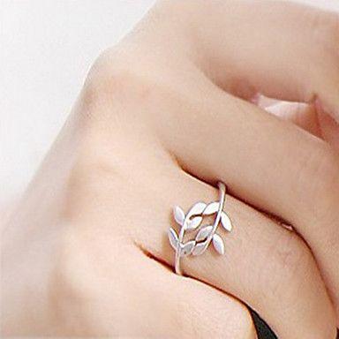 zilveren klimop ontwerp band ring voor vrouwen maat 8 - EUR € 0.94