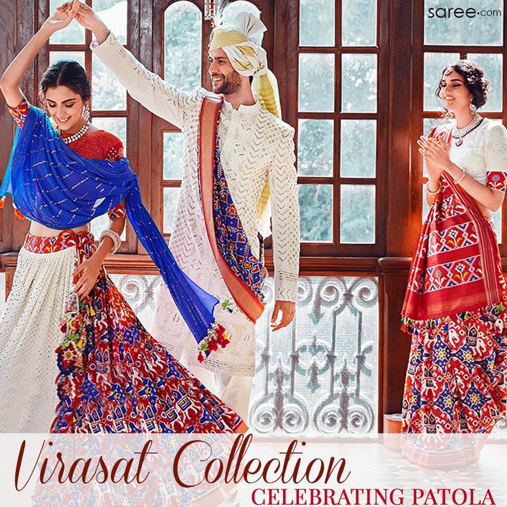 Are You Looking For An Extraordinary Saree - With Breathtaking Patterns, Traditional Motifs, And Eye-Catching Colors? Virasat Collection Has It All! Come And Celebrate The Beauty Of A Patola Saree With Us! #VirasatCollection #Asopalav #Bride #BridalCollection #Patola #Sarees #PatolaSarees #Virasat #Sareedotcom