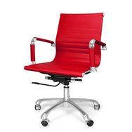 Design bureaustoel DOC in de kleur rood. Rode kantoorstoel te koop bij Meubelen-Online.nl https://www.meubelen-online.nl/bureaustoel-doc-rood-design-kantoorstoel