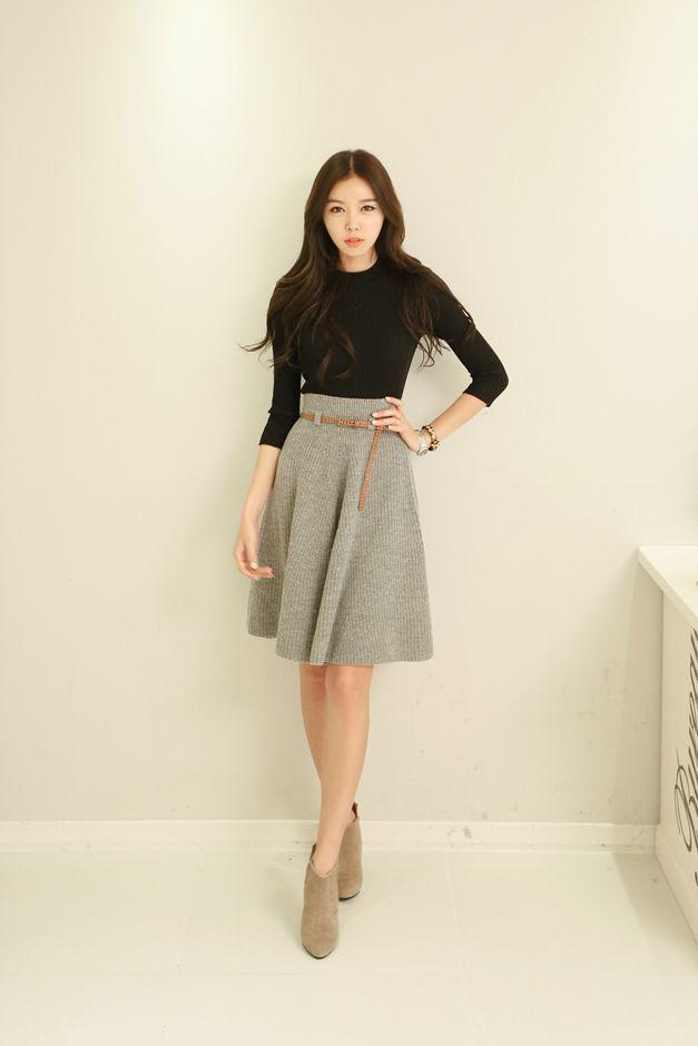 SK flare knit belt