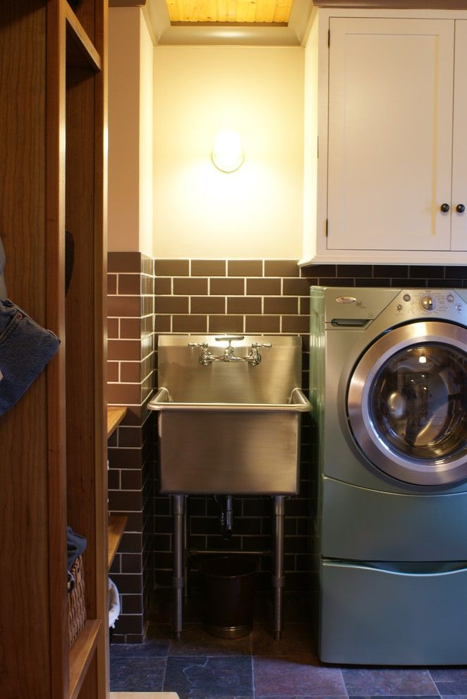 Innovative Slop Sink In Laundry Room Eclectic With Rustic .