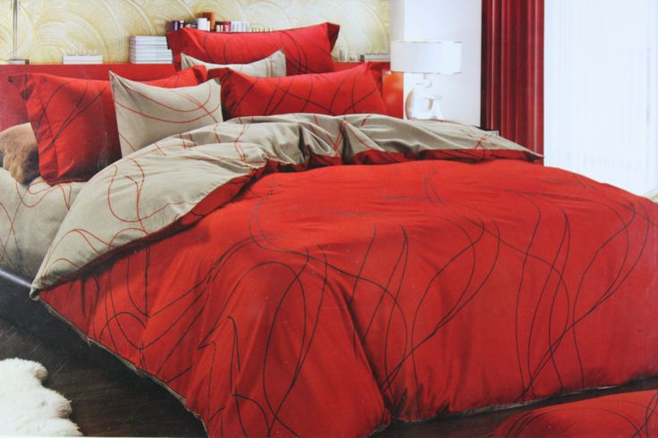 The main feature of this Bed Linen Set is its unique Color combination which is the perfect pick for your Home Elegance. The contrast of Red & Beige color will blend well with all interior types. The King Size(275*275cm) fine quality cotton fabric bed linen set is great for use in all season types and is easy to wash and maintain. Order now before you miss it!