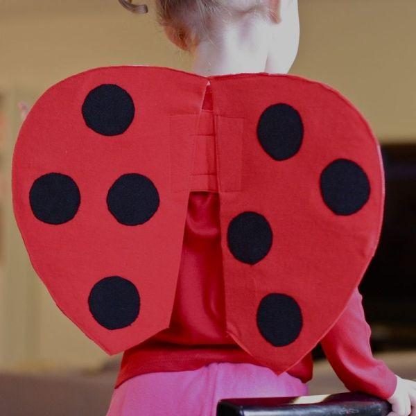Vestito coccinella fai da te come fare vestito carnevale da coccinella con ali e antenne consigli idee vestito di carnevale per bambine economico foto guida