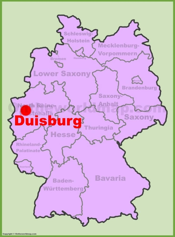 Nice Duisburg location on the Germany map
