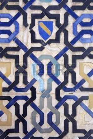 ceramic tile in the Alhambra Palace, Granada #patterns