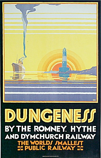 Romney, Hythe & Dymchurch Railway Dungeness Poster 1928