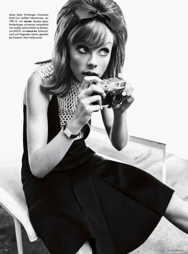 Edie Campbell by Sebastian Kim for Vogue Germany