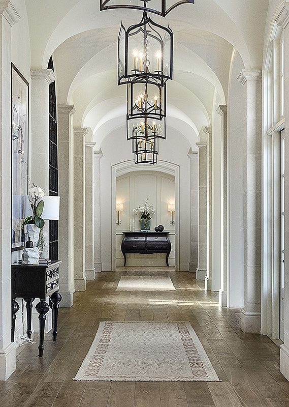 A grand hallway in Kim Kardashian and Kayne West's new California home.