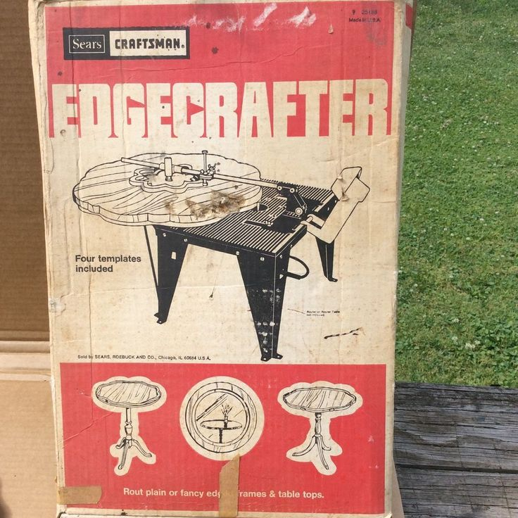 Vintage Craftsman Edge Crafter 9 25188 Router Accessory | eBay