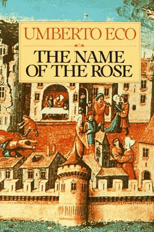"""""""The Name of the Rose"""" in 1980 by Umberto Eco (Piedmont 1932). The first novel by Italian author Umberto Eco. It is a historical murder mystery set in an Italian monastery in the year 1327, an intellectual mystery combining semiotics in fiction, biblical analysis, medieval studies and literary theory."""