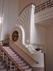 Art decó: Escalera Burbank City Hall de Los Angeles - openDeco. Decoración e interiorismo.   ..rh