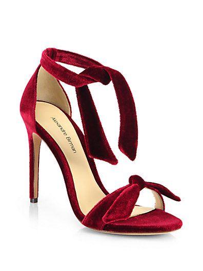 Alexandre Birman burgundy velvet sandal     pinterest: @Blancazh