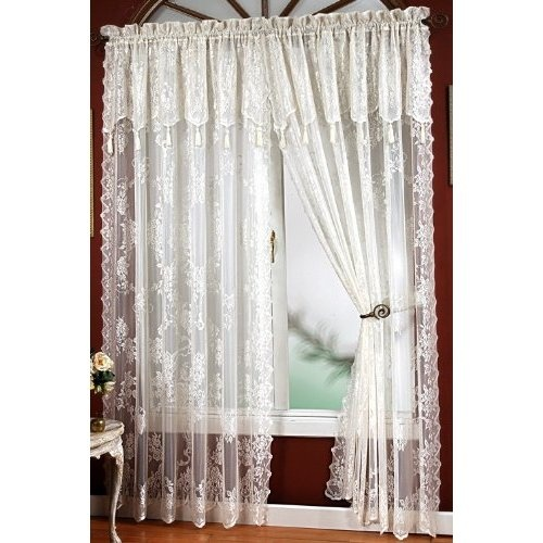 Lace Curtains For My Blue Bedroom