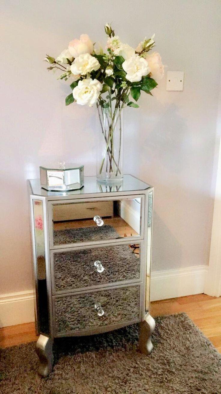 Mirror nightstand / locker ✨  Mirrored furniture inspiration
