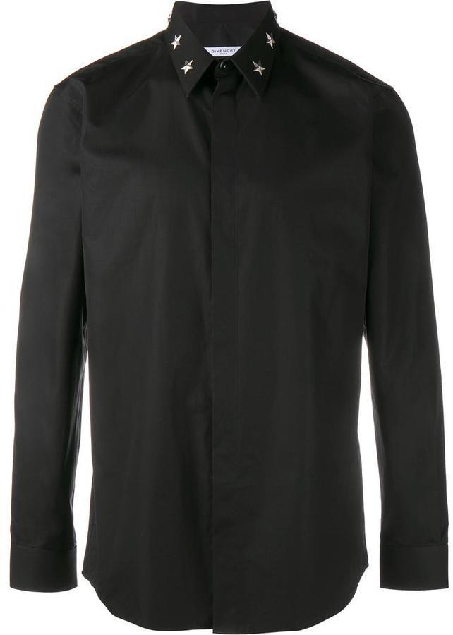 Givenchy Star Studded Collar Shirt