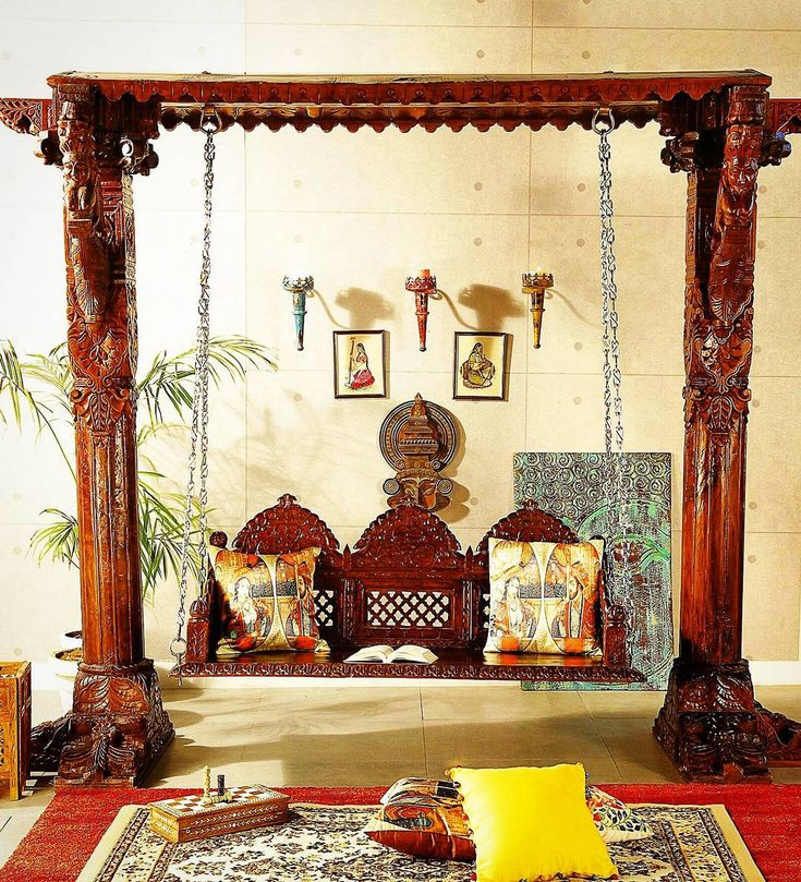 The 71 best images about indian jhoola swings on pinterest for Living room jhoola