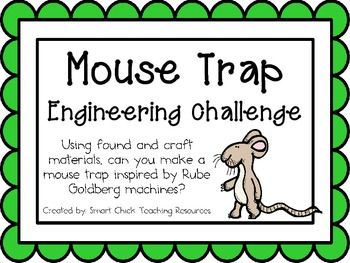 Mouse Trap Machine: Engineering Challenge Project ~ Great STEM Activity  Using found and craft materials, can you make a mouse trap inspired by Rube Goldberg machines? $