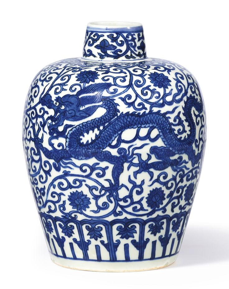 A BLUE AND WHITE 'DRAGON' JAR<br>MARK AND PERIOD OF WANLI | lot | Sotheby's