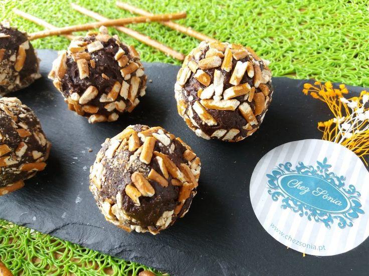 Trufas de Chocolate Preto com Sovina Stout