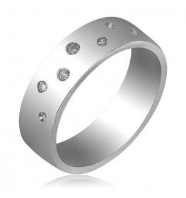 0.16 CT Diamond Comfort Fit In 18k White Gold