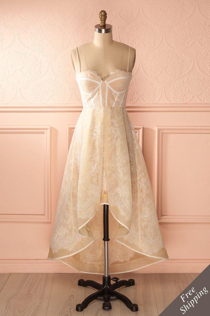 Parce que le grand jour venu, toute femme veut être la plus élégante qui soit. Because when the big day comes, every woman wants to be the most elegant. Cream lace dress www.1861.ca