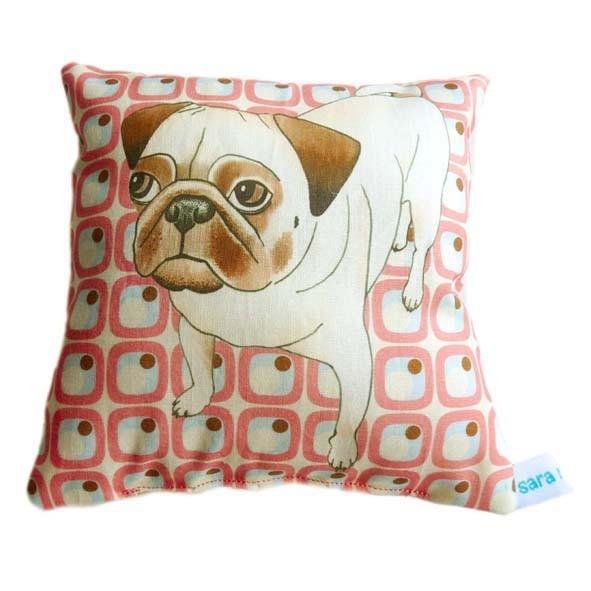 Pug Lavender Scented Mini Cushion
