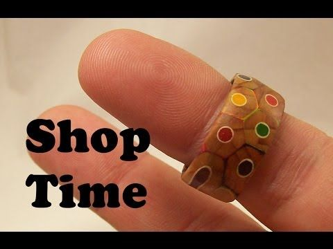 How To Make A Custom Craft Ring Using Colored Pencils And Glue...i want one