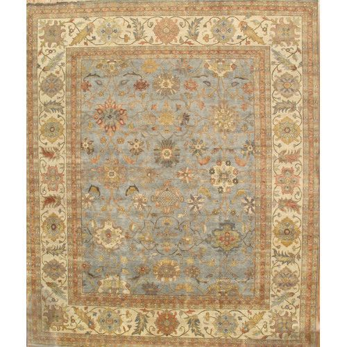 Pasargad Sultanabad Light Blue/Ivory Rug