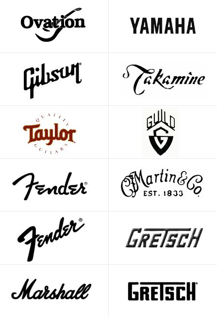 Famous Music logos feature hand written letterforms
