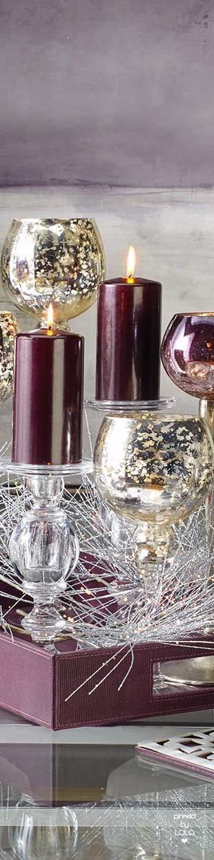 Candleholders and Plum Candles | LOLO❤︎