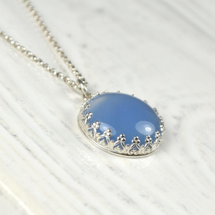 Translucent Blue Agate Stone Pendant by TrishaFlanagan on Etsy https://www.etsy.com/ca/listing/453542362/translucent-blue-agate-stone-pendant