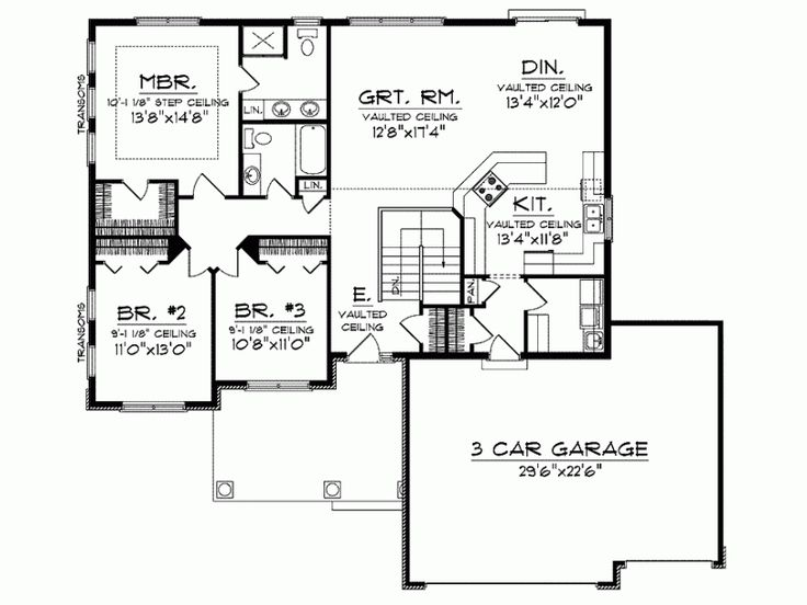 11 best images about houseplans on pinterest house plans Open concept ranch home plans