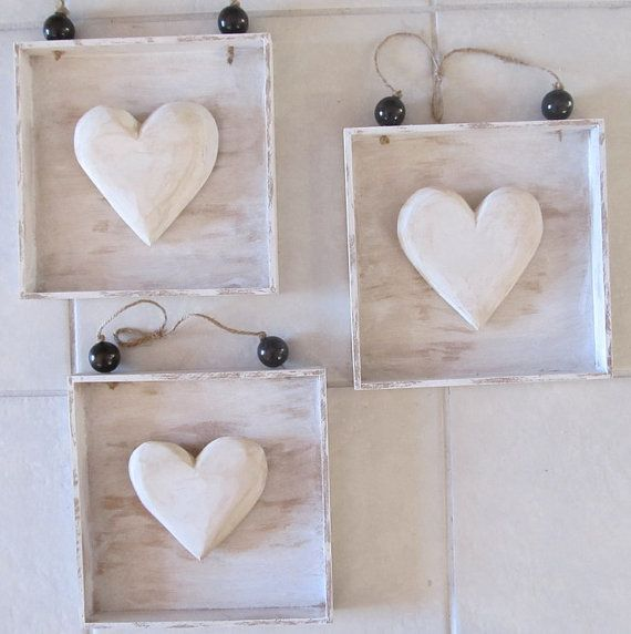 Wooden+Square+Heart+Decor+van+4SeasonsDecor+op+Etsy,+$8,00
