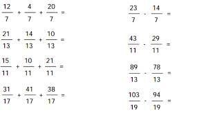 Matemática, espíritu y arte: Suma y resta de fracciones de igual denominador