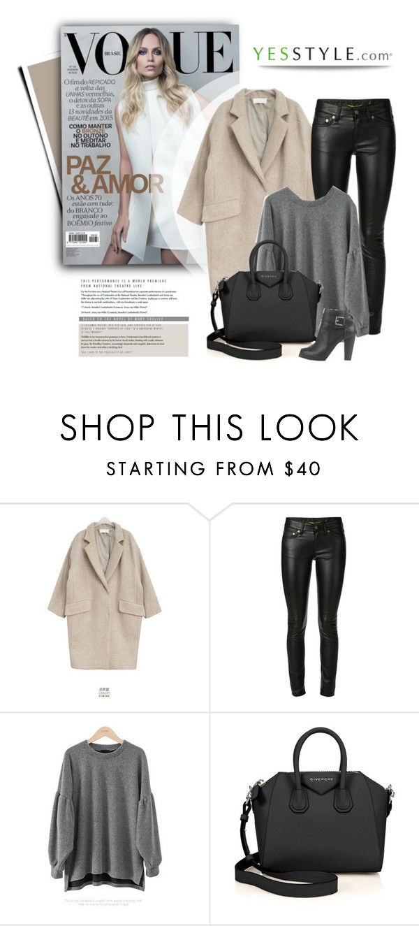 """""""YESSTYLE.com"""" by monmondefou ❤ liked on Polyvore featuring мода, Goroke, Yves Saint Laurent, PEPER, Givenchy и yesstyle"""