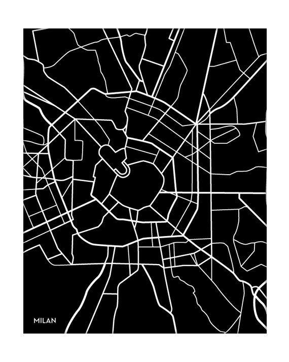 Milan city map, by jennasuemaps on etsy