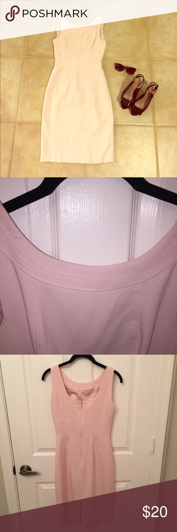 WHBM Pink Wiggle Dress Beautiful pastel pink dress. Great for work, weddings or a date night out! No flaws, worn once. White House Black Market Dresses