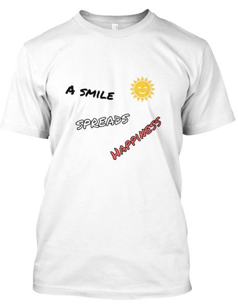 Happiness is all about a good mind, good #vibes and a good #life. If you feel good, you feel #free and feel #alive. Your #smile will spread #happiness. If you don't smile I will sue you .... :). Open your #mind and be #happy to #help your loved ones. If you #love this, don't hesitate to #show it, by wearing this great #Tshirt. Available now via: https://teespring.com/nl/you-smile-1#pid=2&cid=2122&sid=front