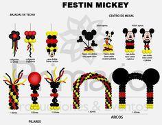 Mickey Mouse balloon decor                                                                                                                                                      Más