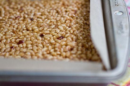 Almond Butter Rice Crisp Treats