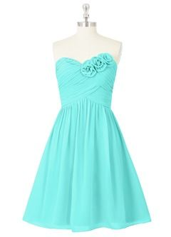 Azazie- website has tones of bridesmaid dress options in many colors! I like this Spa color...
